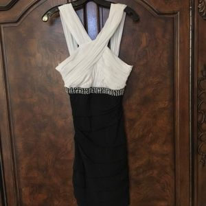 Dresses & Skirts - White and Black Homecoming Dress